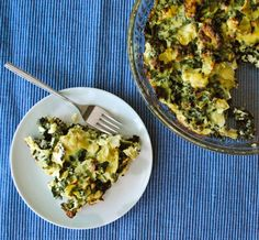 Eggs, Ricotta Cheese, Parmasan, Artichokes, Kale -- 6 ingredients in a super healthy meal!
