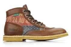 Kickers Kick Legend F (Marron) - Bottines et boots chez Sarenza (70462)