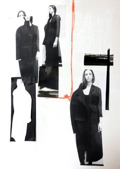 Fashion Portfolio layout; fashion collage; fashion sketchbook // Connie Blackaller