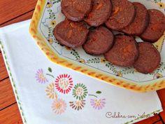 Galletas de chocolate con chocolate de naranja