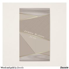 Shop Wood and gold business card created by Zenvilo.