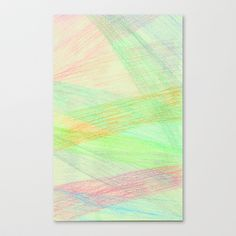 Colored Threads Stretched Canvas by Rachel Winkelman - $85.00
