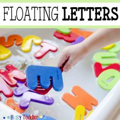 Create a simple & easy activity for toddlers & preschoolers. Floating letters takes seconds to put together & is a great indoor activity to keep tots busy.