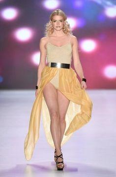 Lena Gercke for Maybelline, wearing spectacular make-up. #mbfwb #maybelline #lenagercke