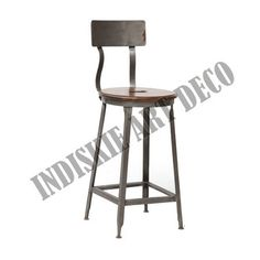Industrial Bar Stools With Back, View Industrial Bar Stools With Back, INDUSTRIAL FURNITURE Product Details from INDISKIE ART DECO on Alibaba.com