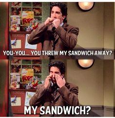 MY SANDWICH? Ross gellar