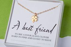 Four leaf clover necklaceshamrock by tyrahandmadejewelry on Etsy
