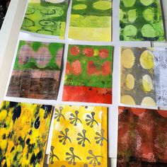 Dudley Redhead: Getting sorted and festive gelli plate printing