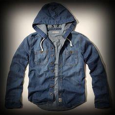 Hollister メンズ シャツ  ホリスター Fallbrook Hooded Denim Shirt シャツ ★アバクロ姉妹ブランド!西海岸のサーフスタイルをベースに様々な入手困難なアイテムを展開!ホリスターHollister今季新作商品。 ★シンプルなデニムシャツは1枚で着るだけでお洒落になります!フード付きです!