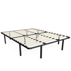 Mattress Foundation Platform Bed Frame Wooden Slats Mattress