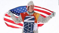 Gold medalist Red Gerard celebrates at the victory ceremony for the men's slopestyle snowboarding final at the Olympic Winter Games PyeongChang 2018 on Feb. 2018 in PyeongChang, South Korea. Winter Olympic Games, Winter Games, Red Gerard, Mark Mcmorris, Pyeongchang 2018 Winter Olympics, Snowboarding Men, Olympic Weightlifting, I Love Winter, Olympic Athletes