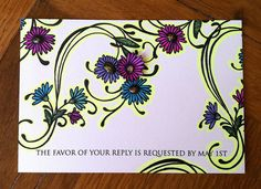 2012 Wedding Response card