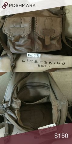 Used Liebeskind Medium Crossbody Genuine gray/beige leather, perfect for travel Liebeskind Bags Crossbody Bags