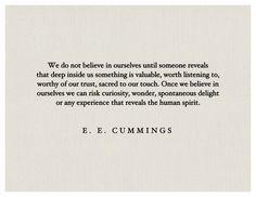 Oh E.E. Cummings, how I love you so.