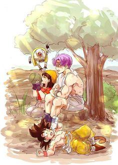 Dragon Ball Gt, Vegeta Y Trunks, Digimon Wallpaper, Shadow Of The Colossus, Dbz Characters, Fanart, Manga Illustration, Anime Guys, Artwork