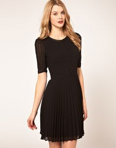 Buy Karen Millen Pintuck & Pleat Dress at ASOS. Semi Dresses, Cute Dresses, Prom Dresses, Karen Millen, Formal Cocktail Dress, Trendy Clothes For Women, Junior Outfits, Fashion Company, Boutique Dresses