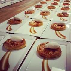 Roasted Apple Tarts from our talented pastry team. #Dessert #Foodie