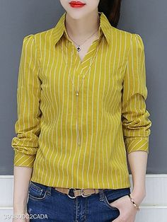 V Neck Stripes Blouses 2019 V Neck Stripes Blouses berrylook clothing berrylook shoes The post V Neck Stripes Blouses 2019 appeared first on Cotton Diy. Blouse Styles, Blouse Designs, Fashion Pants, Fashion Outfits, African Blouses, Cool Outfits, Casual Outfits, Long Blouse, Online Shopping Clothes