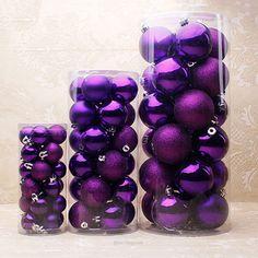 Purple Decorative Balls Linen Decoration For Christmas Tree3Pcslotchristmas Decoration