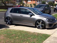 Lowered grey! Vw Golf R Mk7, Golf 7 Gti, Volkswagen Golf R, Golf Photography, Luxury Cars, Cool Cars, Dream Cars, Audi, Classic Cars
