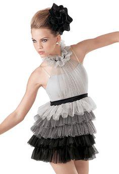 Weissman™ | Tulle Ombre Tiered Ruffle Dress Dance costume!