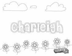 """Print your name coloring pages for first day of school! Just printed 3 for free! Quick and easy and very cute! They had several choices of backgrounds. The font I used here is """"Cheriley"""". First Day Of School Activities, Name Activities, Kindergarten First Day, 1st Day Of School, Beginning Of The School Year, Name Coloring Pages, School Coloring Pages, Free Coloring, Colouring"""
