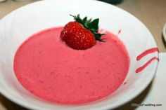 Disney Recipe: Strawberry Soup from Disney World's 1900 Park Fare #YUM #SummerFood #DisneyFood