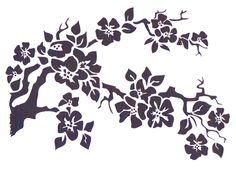 Cherry Blossom Stencil, Mylar Stencil, Flower Stencil, art supply stencil, pochoir, Japanese flower, Asian stencil - $16.00 - pinned by pin4etsy.com