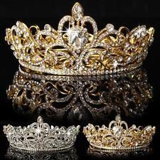 Crystal Rhinestone King Crown Tiara Wedding Bridal Diamante Headpiece Headband