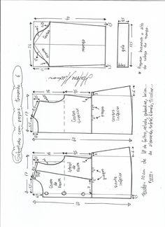 Patrón para hacer un lindo abrigo de otoño-invierno para niñas. Se puede personalizar quitando o dejando los detalles de elvolante o puntilla, tanto de la parte de bajo del vestido como la de los botones en el pecho. El patrón se puede utilizar también para hacer un vestido. Tallas desde 2 años hasta …
