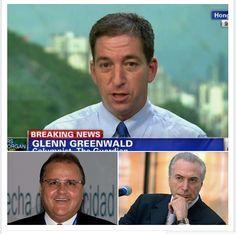 """Foto: Glenn Greenwald: """"Geddel tem os amigos e ideologia certos. Então a corrupção dele não é um problema. Fica, querido."""""""