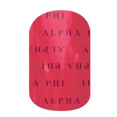 Alpha Phi | Jamberry Bond with your big or little with our officially-licensed Alpha Phi nail wraps. Wear these wraps alone or pair them with Jamberry Professional Nail Lacquer in your sorority colors for spirit fingers that last. **Collegiate and Sorority designs can not be redeemed through host rewards, product credits, buy three get one free or any other special offer.