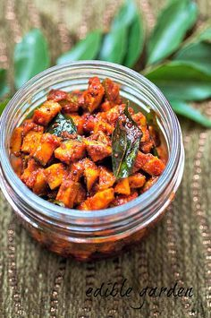 kerala mango pickle-instant mango pickle-manga curry  This one looks really good! The spices are added to the oil followed by the mongo- in this recipe. Step by step instructions.
