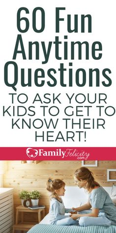 60 Fun Questions to Ask Your Kids to Get Them to Open Up and Share Their Heart Tired of your kids clamming up? Try these questions to get your kids to open up and get to know your child's heart. Parenting Advice, Kids And Parenting, Parenting Classes, Parenting Styles, Parenting Quotes, New Parent Advice, Gentle Parenting, Foster Parenting, Fun Questions To Ask