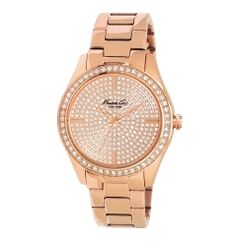 Rose Gold Watch with Pave Crysta - View All Watches - Kenneth Cole