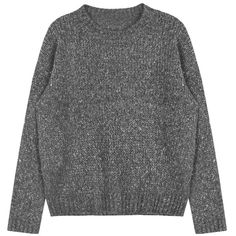 Regular Fit Knit Sweater (€18) ❤ liked on Polyvore featuring tops, sweaters, clothes - tops, clothing - ls tops, knit sweater, knit top, bunny sweater and bunny top