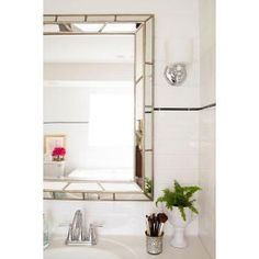 Home Decorators Collection, Lens 38 in. H x 28 in. W Wood Framed Mirror, 60015 at The Home Depot - Mobile