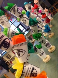 Art at Becker Middle School: Unusual Mediums for Usual Subjects - Cup Self Portraits