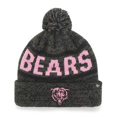 5e229271ff3 Chicago Bears Northmont Cuff Knit Charcoal 47 Brand Womens Hat