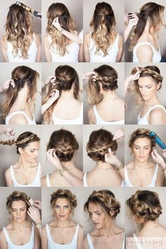 Crown Braid/Halo Braid  Braided Hair Tutorial // SKMU // Blog Tutorial // Hair…