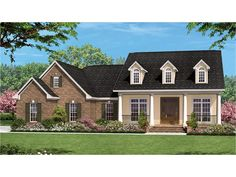 Home Plan HOMEPW77578 is a gorgeous 1600 sq ft, 1 story, 3 bedroom, 2 bathroom plan influenced by  Ranch  style architecture.