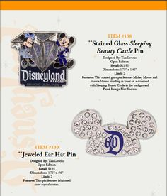Disneyland 60th Anniversary Pin Preview | Diamond Celebration Merchandise Event