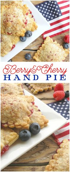 Berry hand pie recipe, yum! Great 4th of July dessert! Easy patriotic treat! Yummy berry pie recipe, mm!