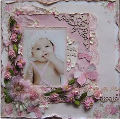 Baby Girl *PION DESIGNS* - Scrapbook.com (by Angelica) Wendy Schultz onto Scrapbook Art.