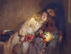 George Elgar Hicks (English painter) 1824 - 1914 The Return Home, 1873 oil on canvas 20 1/2 x 26 1/2 in.