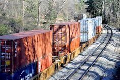 Train tracks in Atlanta.