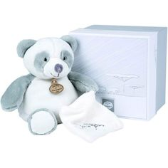 Coffret peluche panda Nature (25 cm) - Doudou et Compagnie