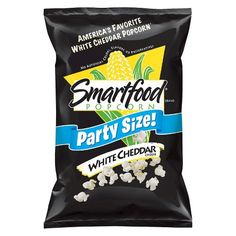 Smartfood Popcorn, White Cheddar Popcorn (Party Size) (Pack of oz / each White Cheddar Popcorn, Cheese Popcorn, White Cheddar Cheese, Smartfood Popcorn, Cheese Cultures, Milk Ingredients, Flavored Popcorn, Cheese Party, Gastronomia