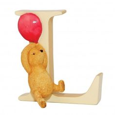 Winnie the Pooh Classic Alphabet Letters - Letter L Pooh with Balloon