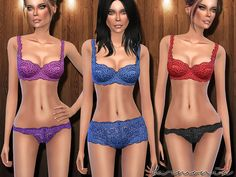 Naturally Lace Lingerie Set Found in TSR Category 'Sims 4 Sets'